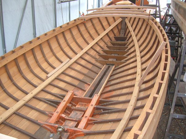 Redd 39 s pond boatworks wooden boat builders marblehead ma for Ready made decking frame